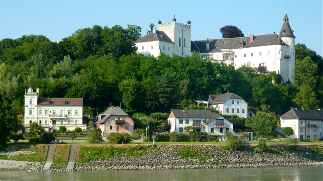 View of Ottensheim on the River Danube near Linz, Austria. Photo: Andrew Cornwell. All rights reserved.