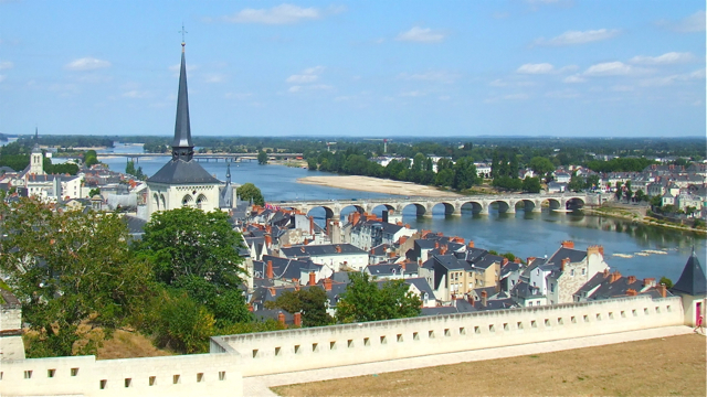 View over the River Loire at Saumur, Maine-et-Loire, France. Photo: Andrew Cornwell. All rights reserved.
