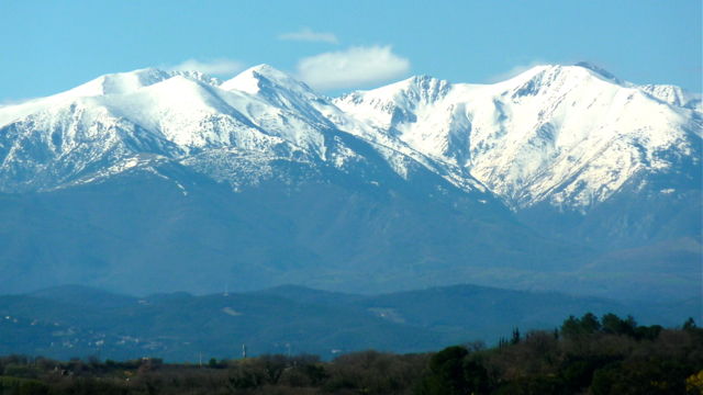 View of Pic du Canigou, Pyrénées-Orientales, France. Photo: Andrew Cornwell. All rights reserved.