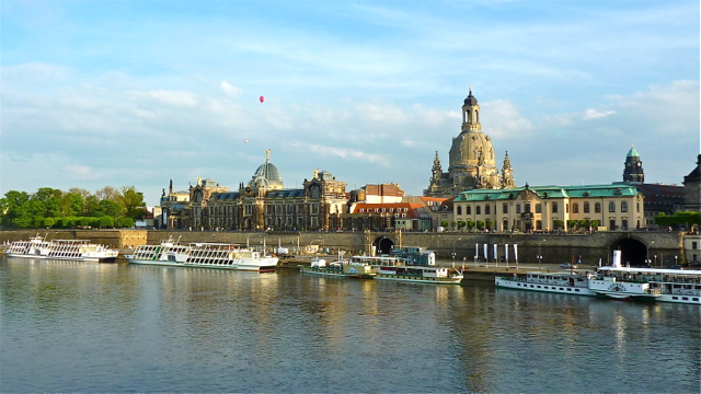 Riverside view, Dresden, Saxony, Germany. Photo: Andrew Cornwell. All rights reserved.