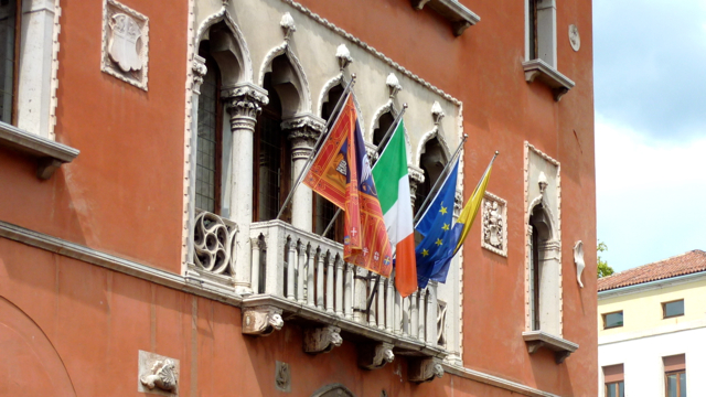 Town hall, Belluno, Veneto, Italy. Photo: Andrew Cornwell. All rights reserved.
